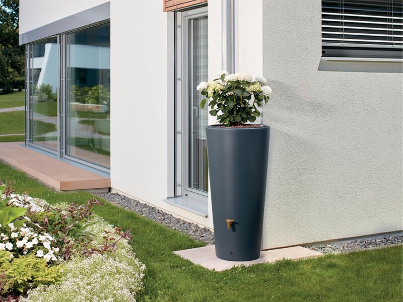 Garantia Vaso tonneau de pluie 220l et pot à fleurs 2-en-1
