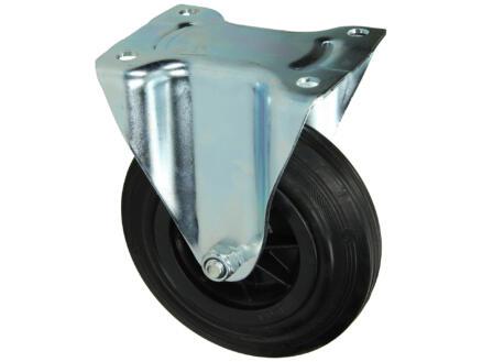 Sam Vast wiel 160mm met plaat en rollager rubber