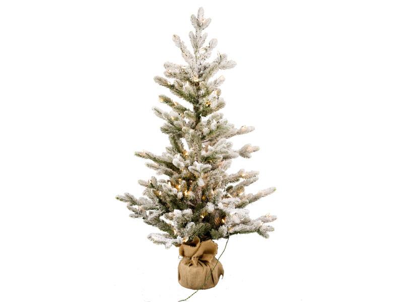 Kerstboom Met Verlichting.Vaxo Witte Kerstboom Met Verlichting 91cm 50 Led Lampjes Hubo