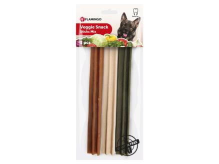 Flamingo Veggie Sticks Mix friandise chien 18cm 3 pièces