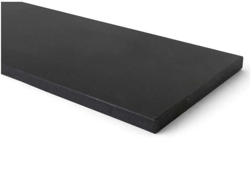 Vensterbank 88x25x2 cm mongolian zwart