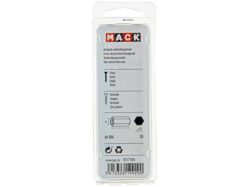 Mack Verbindingsmoer M6 verzinkt 3 stuks