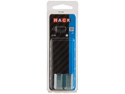 Mack Verbindingsmoer M8 verzinkt 2 stuks