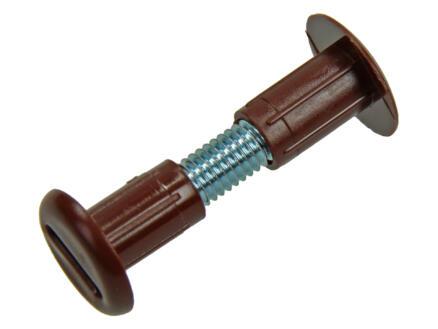 Verbindingsschroeven 31-36 mm bruin 5 stuks