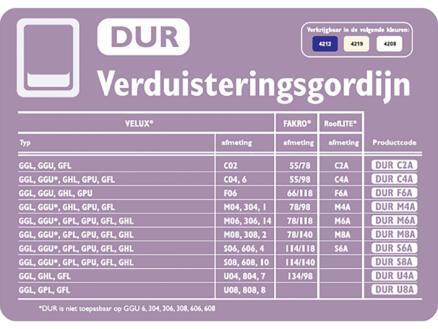 Contrio Verduisterend rolgordijn voor dakraam DUR M8A beige
