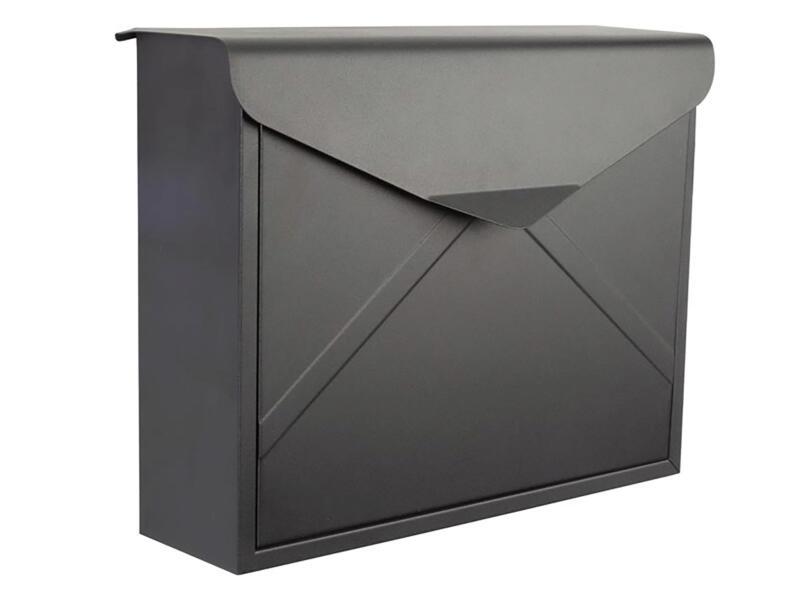 Perel Verona brievenbus mat zwart