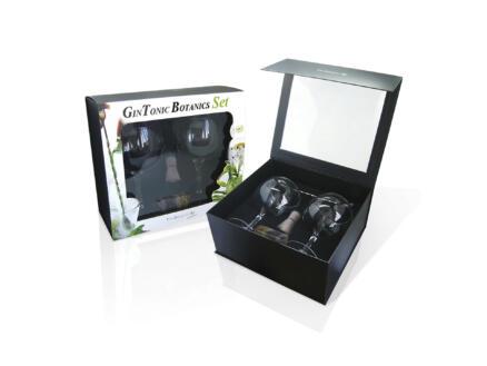 Verres à gin tonic 2 pièces + accessoires en set