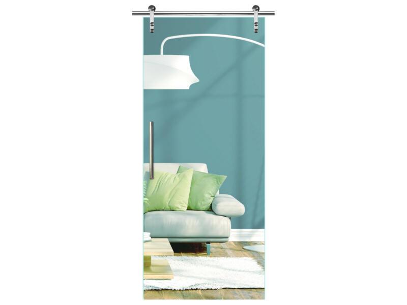 Solid Vetro porte intérieure coulissante verre C000 215x83 cm
