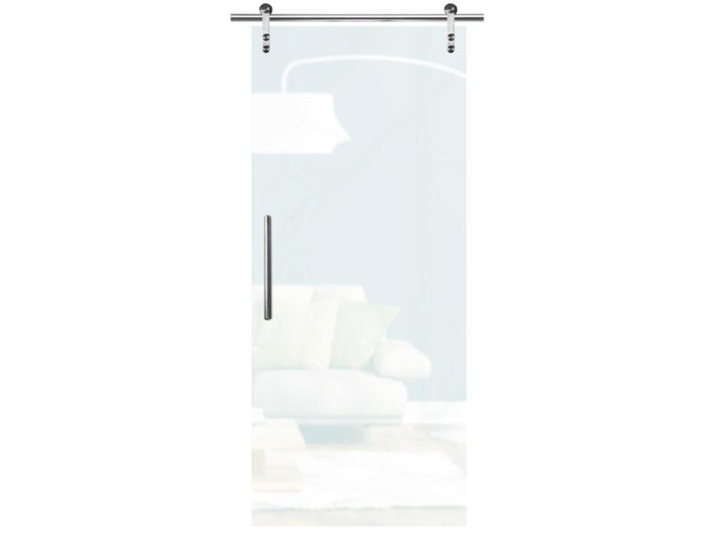 Solid Vetro porte intérieure coulissante verre C001 215x83 cm