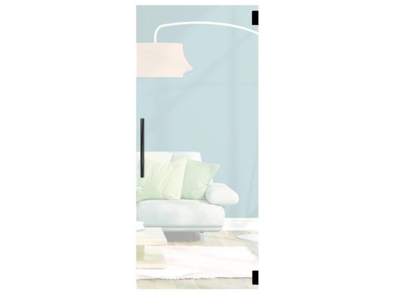 Solid Vetro porte intérieure en verre va-et-vient C001 211x88 cm