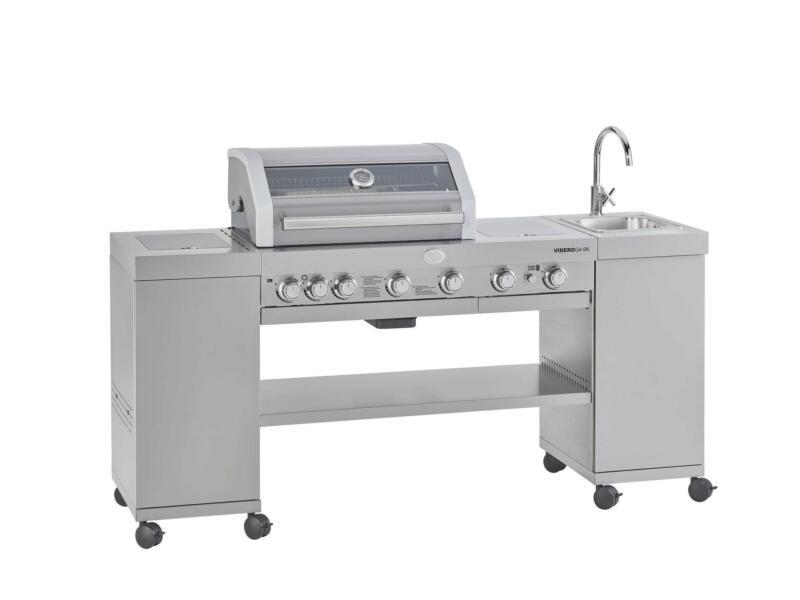 Videro G4-SK SS barbecue au gaz
