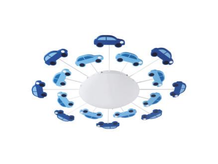 Eglo Viki 1 plafondlamp E27 60W blauw