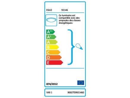 Eglo Viki 1 plafonnier E27 60W bleu