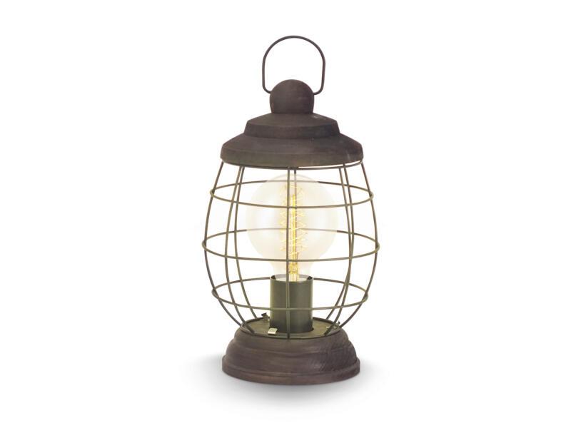 Eglo Vintage Bampton tafellamp E27 60W bruin