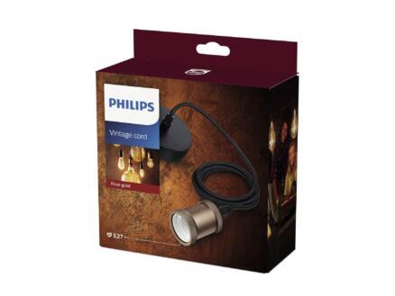 Philips Vintage Cord hanglamp 40W E27 roségoud