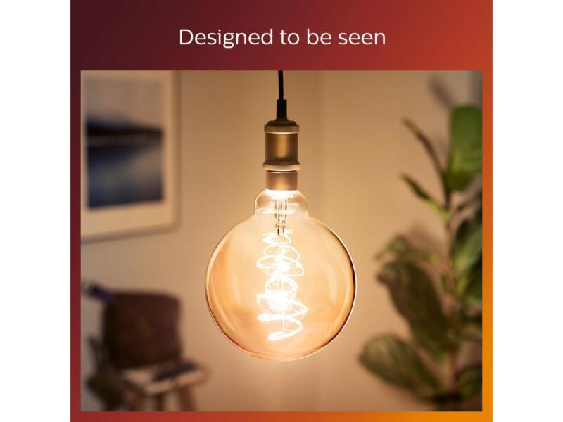 Philips Vintage LED bollamp E27 6,5W goud dimbaar