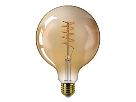 Philips Vintage LED bollamp filament donker glas E27 3,8W dimbaar