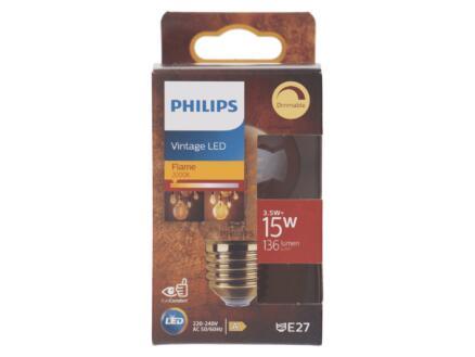 Philips Vintage LED kogellamp filament E27 3,5W dimbaar