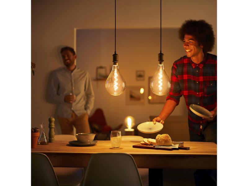 Philips Vintage LED peerlamp filament E27 5W goud