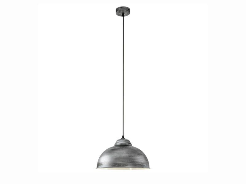 Eglo Vintage Truro 2 hanglamp E27 max. 60W zilver