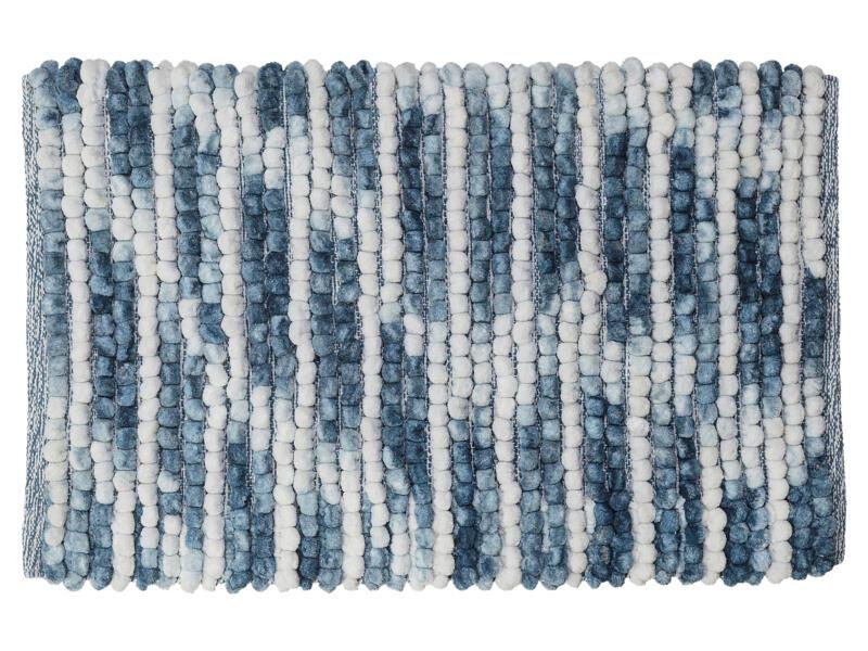 Sealskin Vintage tapis de bain 80x50 cm bleu