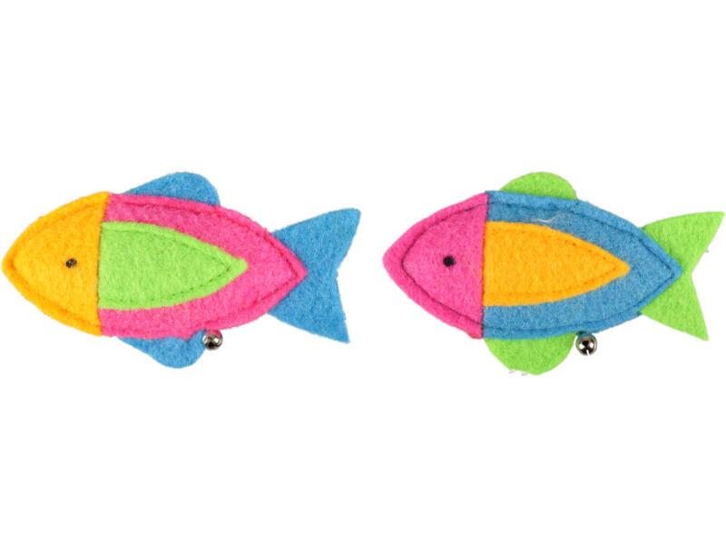 Flamingo Viny jouet pour chat poisson avec clochette 12cm disponible en 2 couleurs