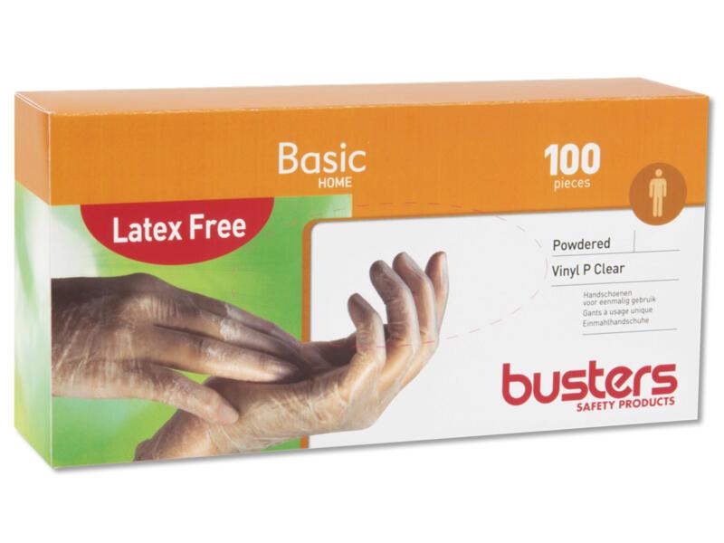 Busters Vinyl P Clear wegwerphandschoenen M 100 stuks