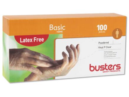Busters Vinyl P Clear wegwerphandschoenen S 100 stuks