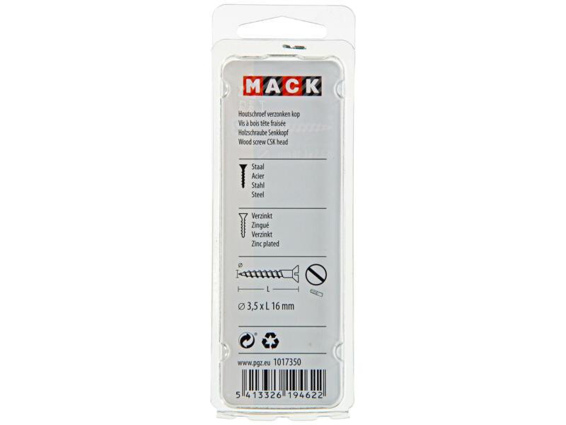 Mack Vis à bois 16x3,5 mm zingué 27 pièces