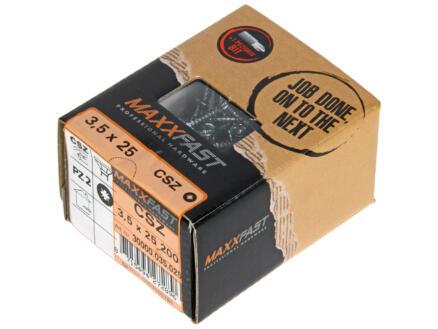 Maxxfast Vis à bois PZ 25x3,5 mm zingué 200 pièces