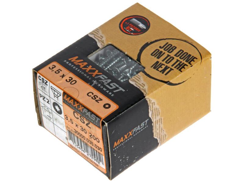 Maxxfast Vis à bois PZ 30x3,5 mm zingué 200 pièces