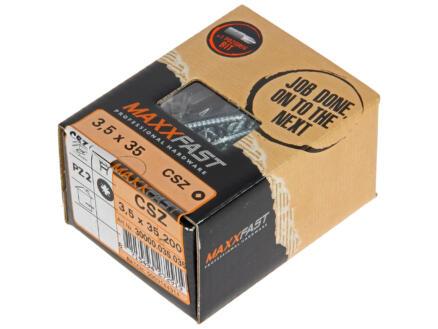 Maxxfast Vis à bois PZ 35x3,5 mm zingué 200 pièces