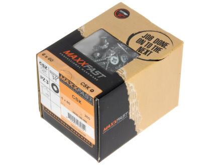 Maxxfast Vis à bois PZ 60x6 mm zingué 200 pièces