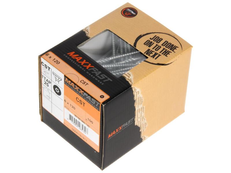 Maxxfast Vis à bois TX 120x6 mm zingué 100 pièces