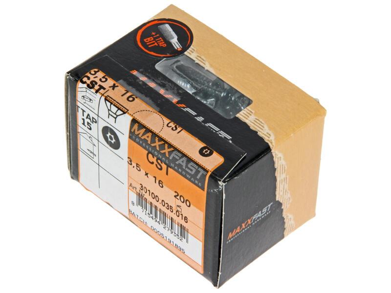 Maxxfast Vis à bois TX 16x3,5 mm zingué 200 pièces