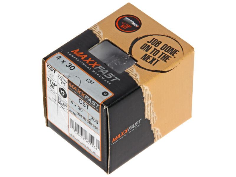 Maxxfast Vis à bois TX 30x4 mm inox 200 pièces