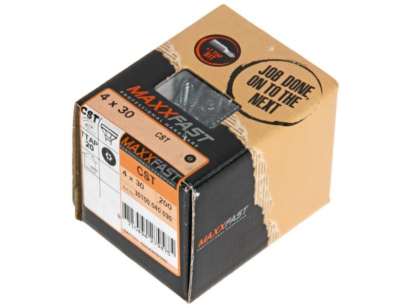 Maxxfast Vis à bois TX 30x4 mm zingué 200 pièces
