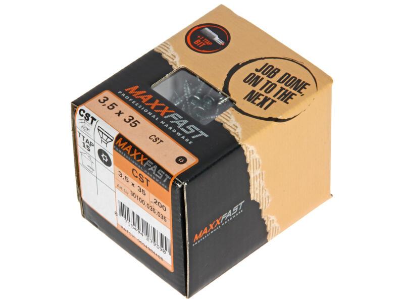 Maxxfast Vis à bois TX 35x3,5 mm zingué 200 pièces