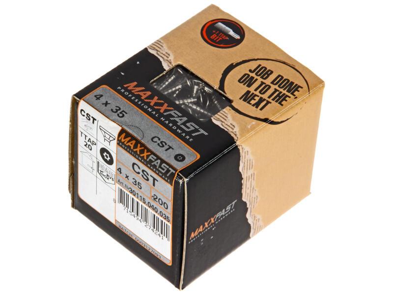 Maxxfast Vis à bois TX 35x4 mm inox 200 pièces