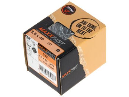 Maxxfast Vis à bois TX 40x3,5 mm zingué 200 pièces