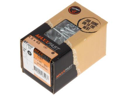 Maxxfast Vis à bois TX 45x4,5 mm zingué 200 pièces