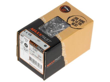 Maxxfast Vis à bois TX 45x4 mm inox 200 pièces