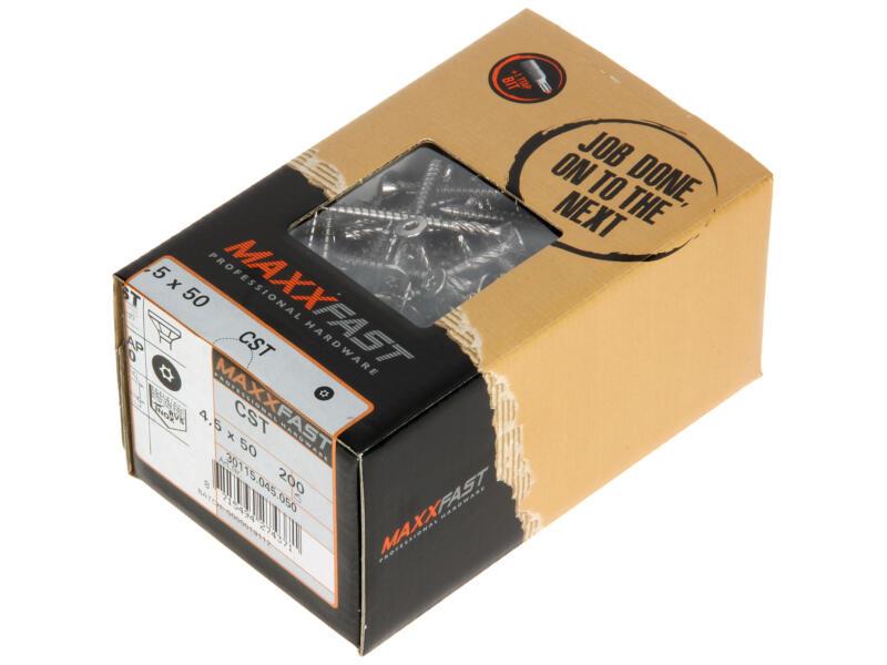 Maxxfast Vis à bois TX 50x4,5 mm inox 200 pièces