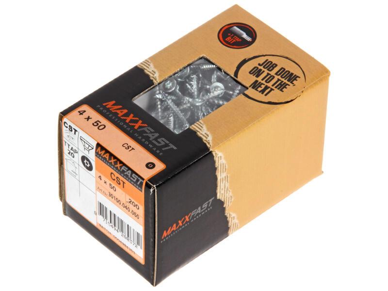 Maxxfast Vis à bois TX 50x4 mm zingué 200 pièces