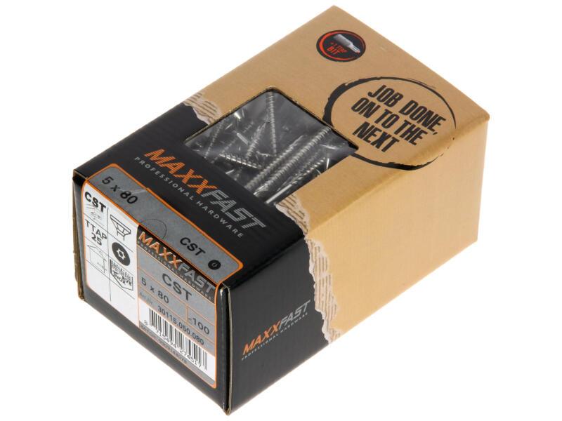 Maxxfast Vis à bois TX 80x5 mm inox 100 pièces