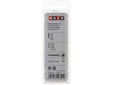 Mack Vis à tôle PZ1 13x2,9 mm zingué 100 pièces