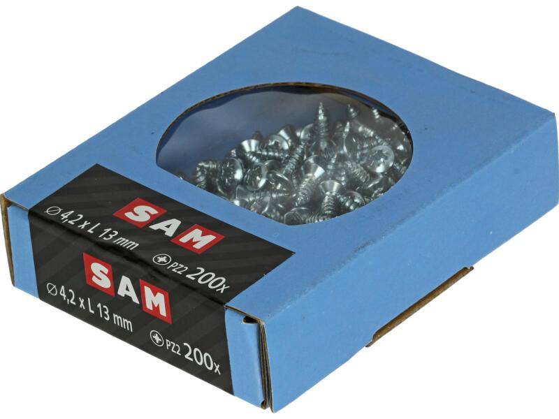 Sam Vis à tôle PZ2 13x4,2 mm zingué 200 pièces