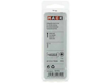 Mack Vis à tôle PZ2 16x3,5 mm inox 13 pièces