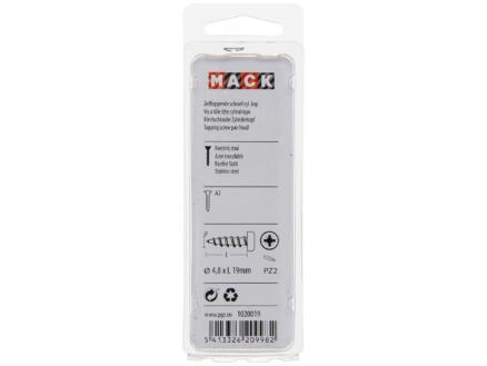 Mack Vis à tôle PZ2 19x4,8 mm inox 30 pièces
