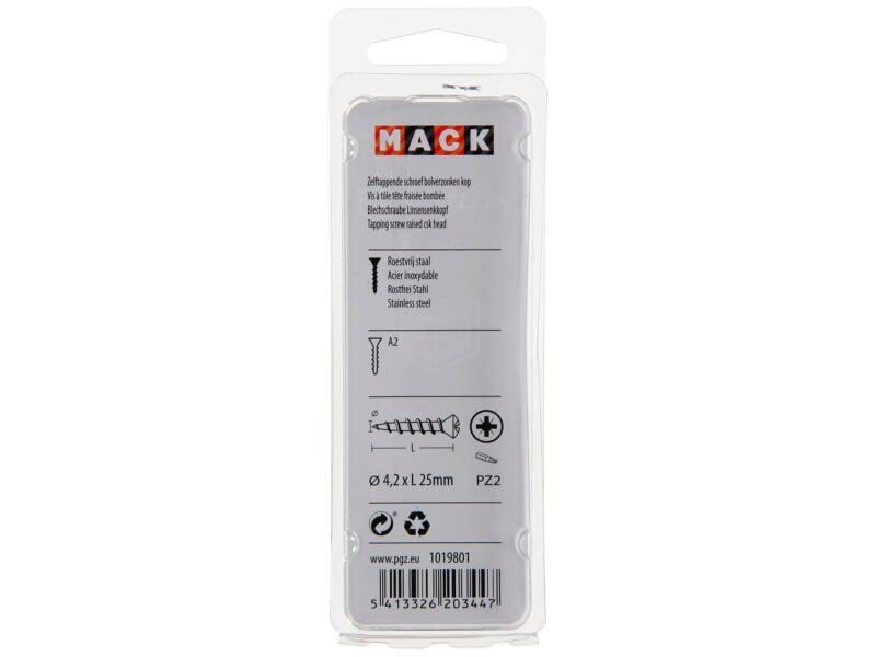 Mack Vis à tôle PZ2 25x4,2 mm inox 8 pièces